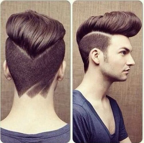 edgy pompadour haircut