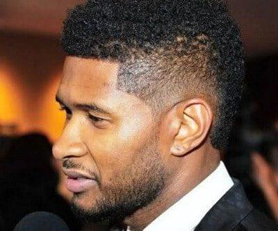 fade buzz cut for black men