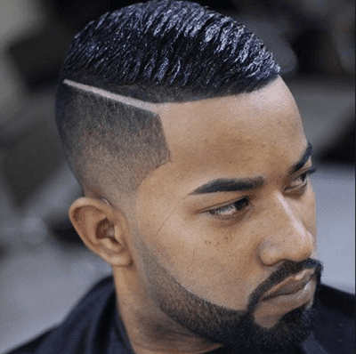 haircut for black men faded sides