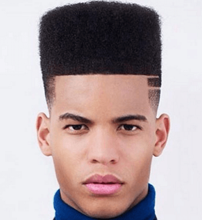 high top razor cut faded sides haircuts for black men
