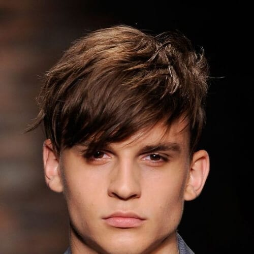 long bangs short hairstyles for men