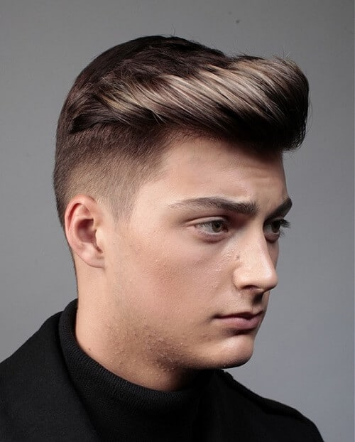 short back pompadour haircut
