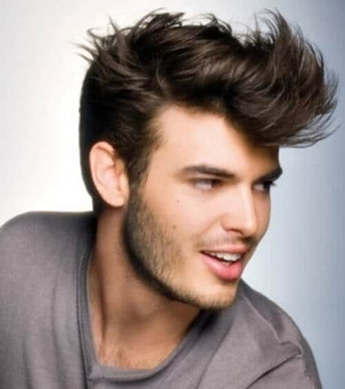 messy feathered pompadour