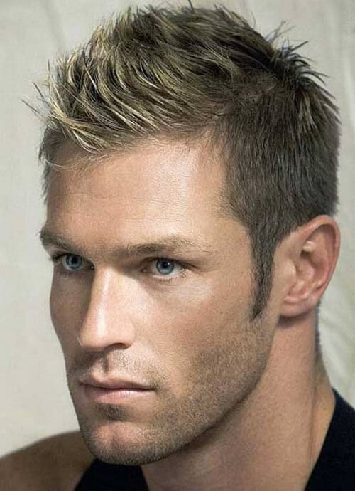 short hairstyles for men spikes and tapered sides