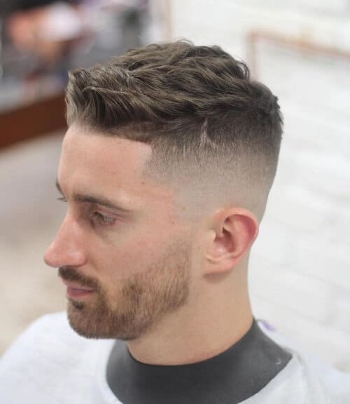 short wavy hair pompadour for men