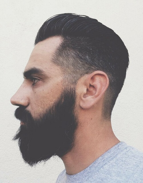 taper cut pompadour