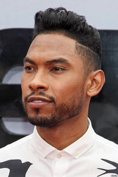 taper fade sides side swept high top
