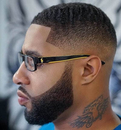 tapered fade in geometric patterns