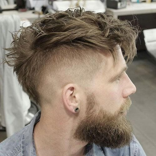 wavy fauxhawk short hairstyles for men