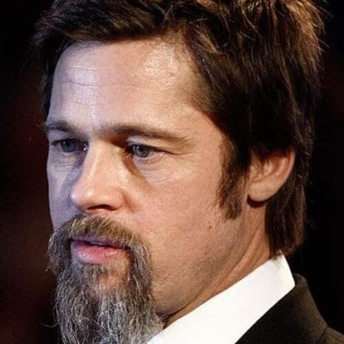 brad pitt goatee styles