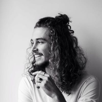 half up half down curly hairstyles for men