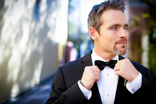 Man with bowtie and goatee