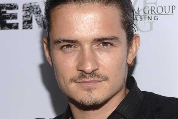 Orlando Bloom goatee and mustache