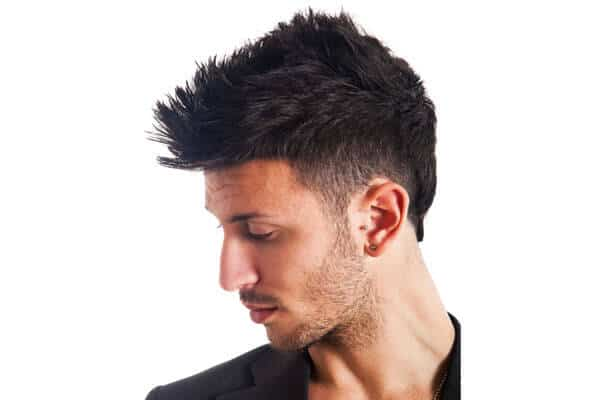 A guy with an undercut and goatee