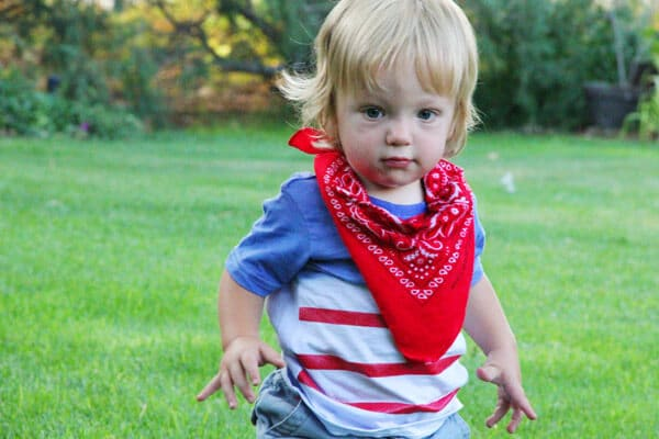 cowboy bandana for little boy
