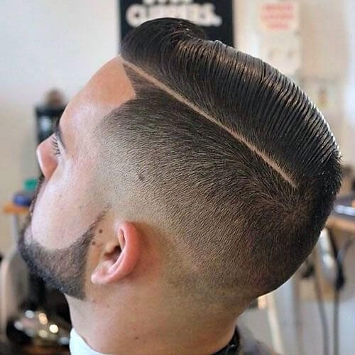 comb over taper cut styles