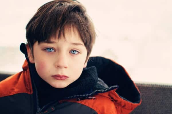 blue eyed boy with brown hair