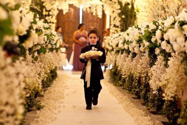 boy in a wedding chapel