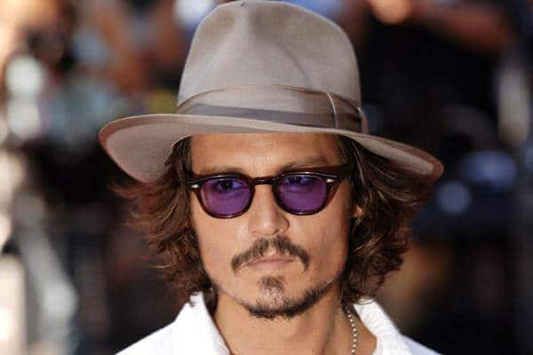 Johnny depp with layered haircut