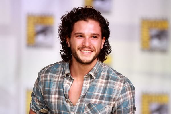 kit harrington in a plaid shirt