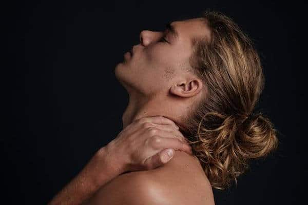 artistic pose of a male model