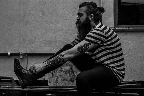 lumbersexual with tattoos