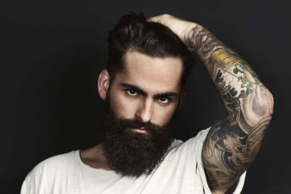 man with sleeve tattoo