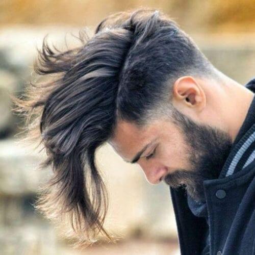 medium shaggy best fohawk haircut styles
