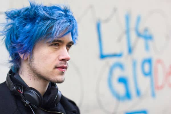 crazy bold hair color for men