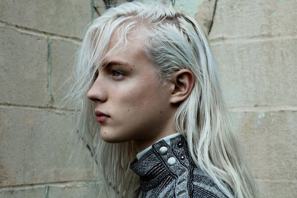 androgynous male model