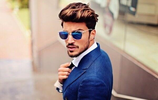 elegant man with shades