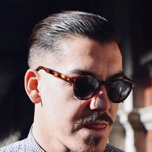 receding hairline taper cut styles