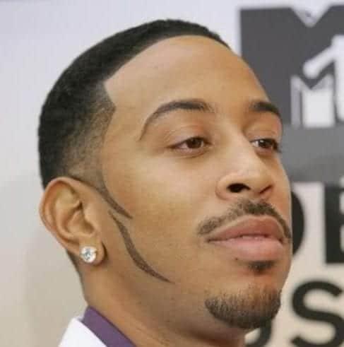 sideburns ludacris taper cut styles
