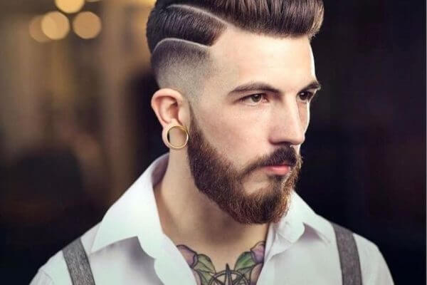 man with a double undercut