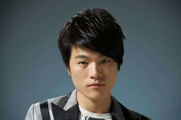 asian guy with swept bangs