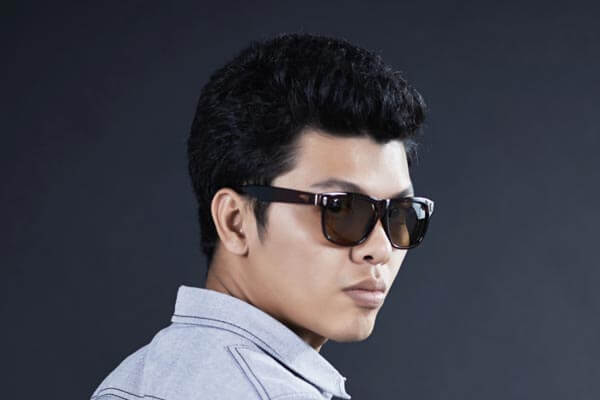 guy with shades and thick hair