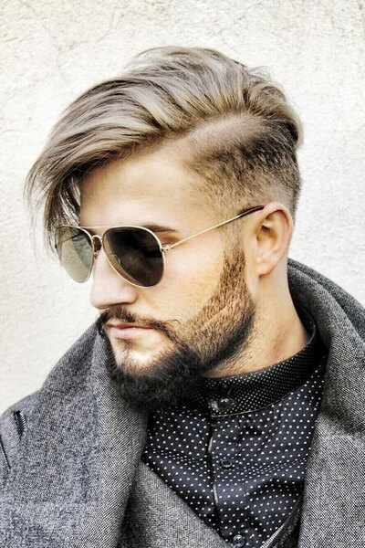 Long Side Comb, Faded Sides, and Part