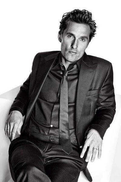 The Matthew McConaughey Messy Wavy Updo