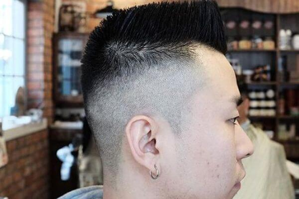 Angled Front Flat Top Hairstyle