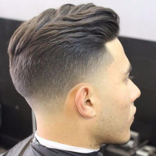 Layered haircut from back