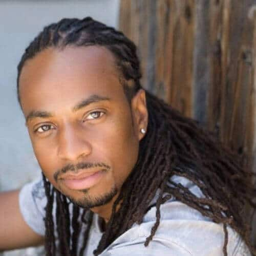 60 cool dread styles for men menhairstylist guy in a white shirt with dreads urmus Choice Image