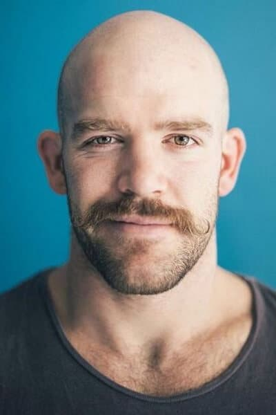 The Bald and Mustache Look