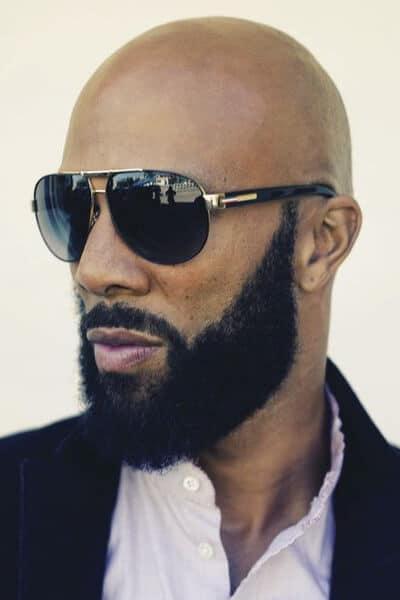 Bald and Short beard look