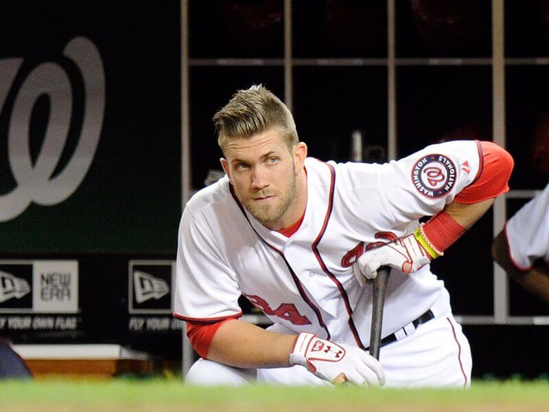 retro hairstyle for bryce harper