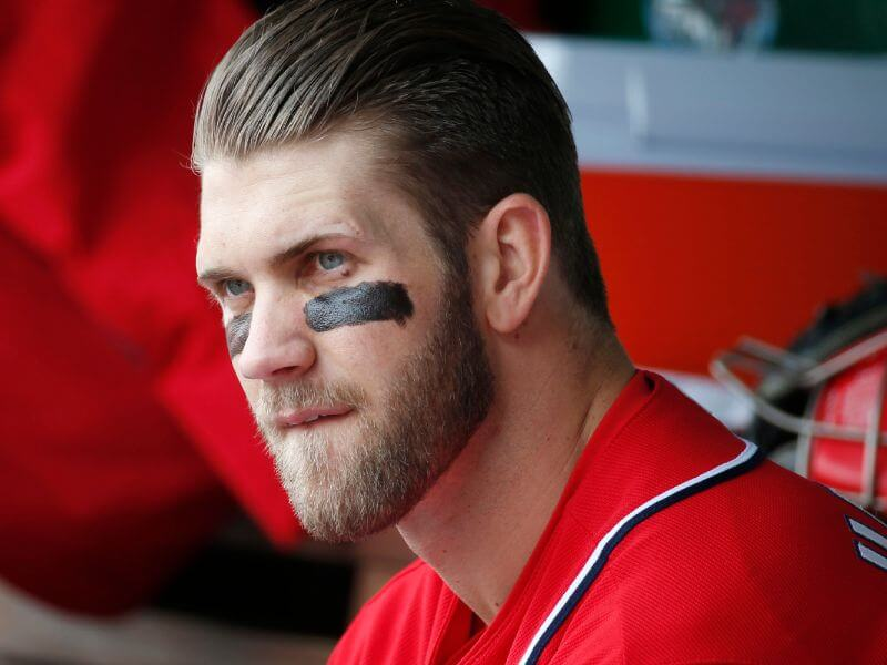 slicked hairstyle bryce harper