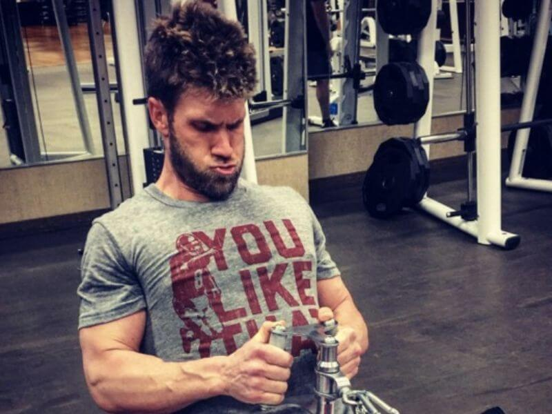 bryce harper at the gym