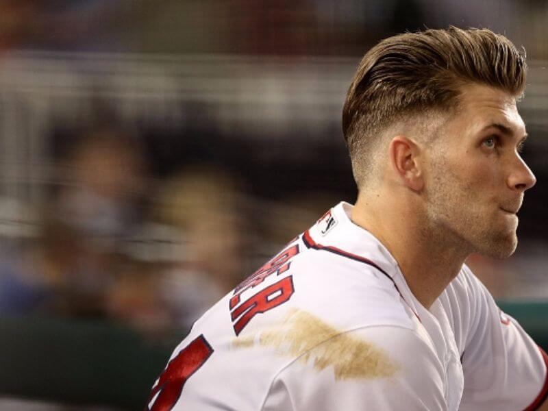 taper haircut bryce harper