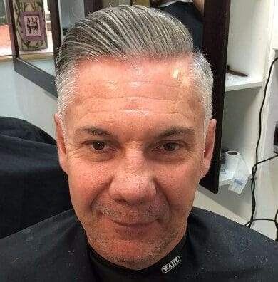 Classy Grey Comb Over
