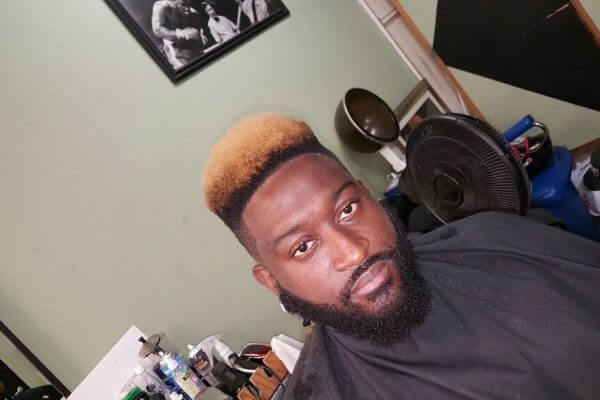 Colorful Flat Top Haircut