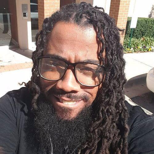 Nothing Looks More Awesome Than Curly Dreads. This Loose, Long Hairstyle  Deserves A Try. Even The Right Pair Of Glasses Or Shades Can Highlight Such  A Fine ...